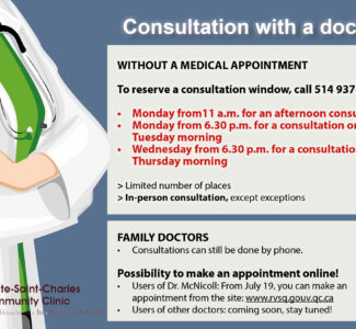 Consultation with a doctor: some changes