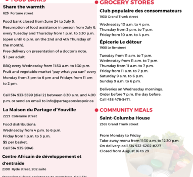 Foos aid resources available this summer in Point-Saint-Charles