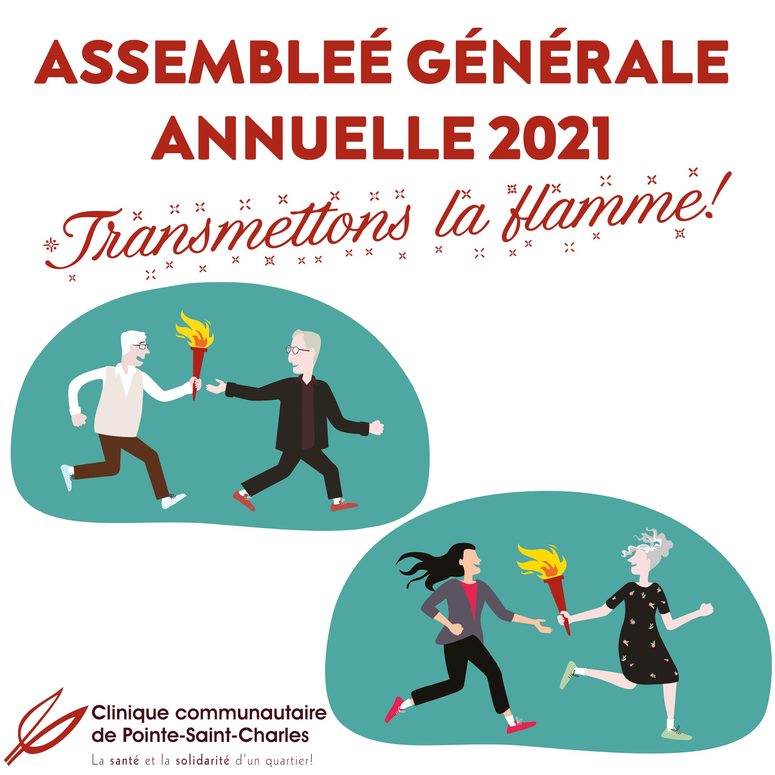 Assemblée générale annuelle: transmettons la flamme!